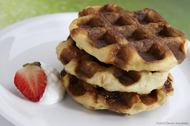 due gaufres, un waffle
