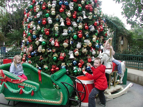 Disneyland Hotel Christmas Tree Sled