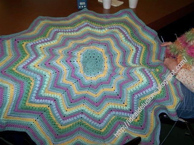 Basic Round Ripple Afghan Pattern Crochet Pinterest