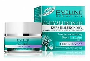 kwas hialuronowy matujący krem cera mieszana krem na dzień krem na noc krem z filtrem, eveline cosmetics, eveline, kosmetyki