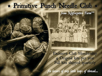 Primitive Punch Needle Club ~ from Notforgotten Farm