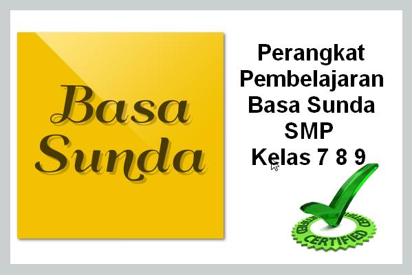 RPP DAN SILABUS BAHASA SUNDA SMP KELAS 7 8 9 KURIKULUM KTSP