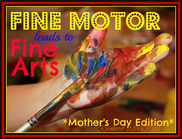 photo of: Fine Motor Development, Fine Arts with children, painting with children