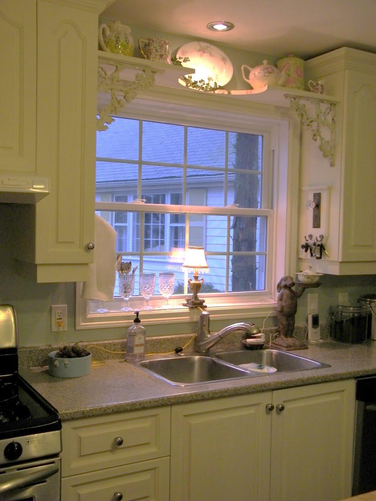 Above Kitchen Window Over Sink Shelf