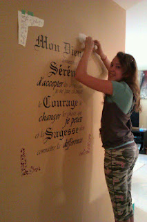 Installing the Serenity Prayer Wall Decal