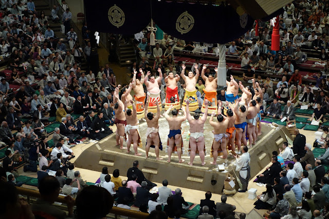 Makuuchi Ring Entering Ceremony.