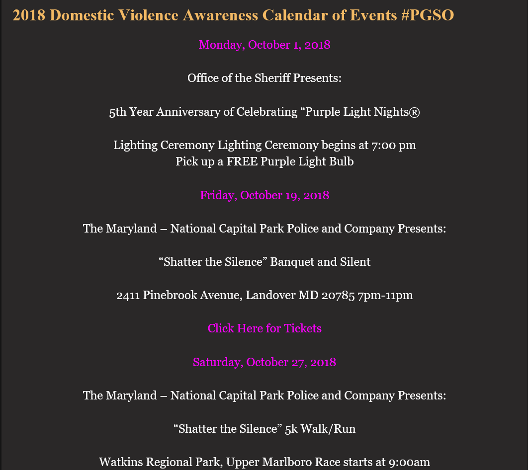2018 DV Awareness Calendar