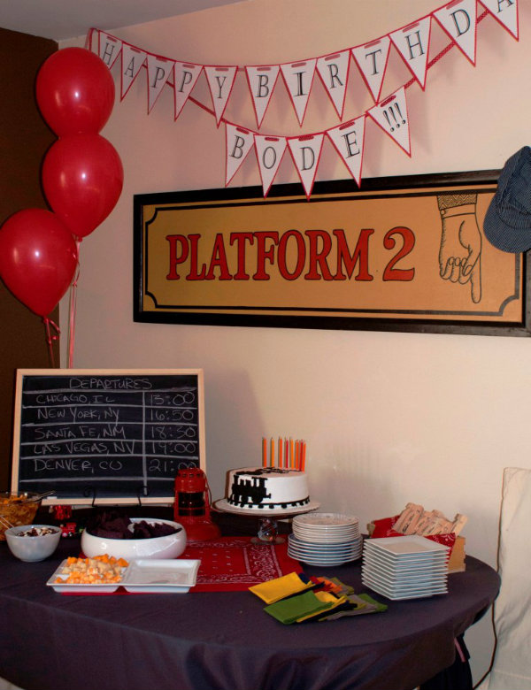 Vintage Train Themed Birthday Party