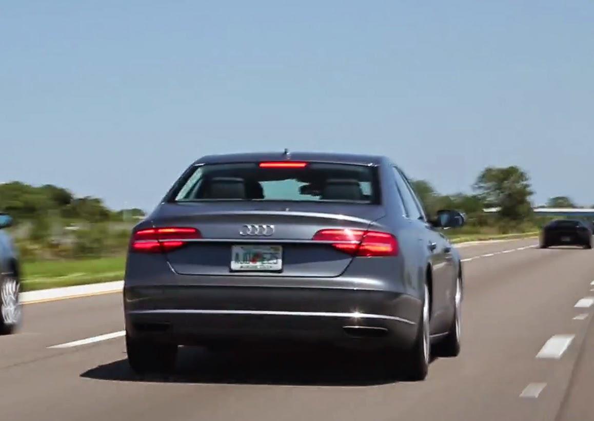 Audi A8 Flordia License Plate # AJ0 E25