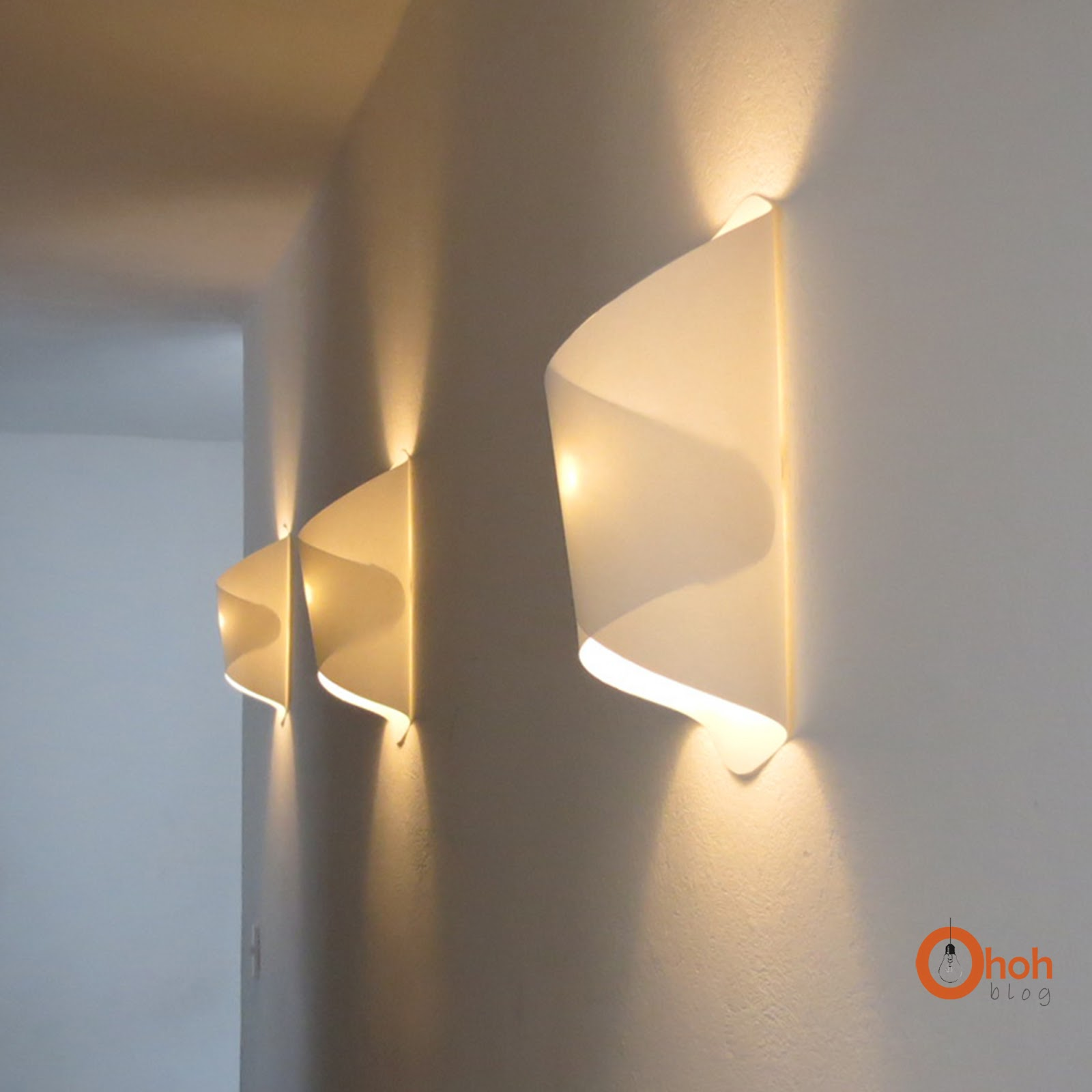 Homemade Wall Lamp : DIY paper lamp / Lampara de papel - Ohoh Blog
