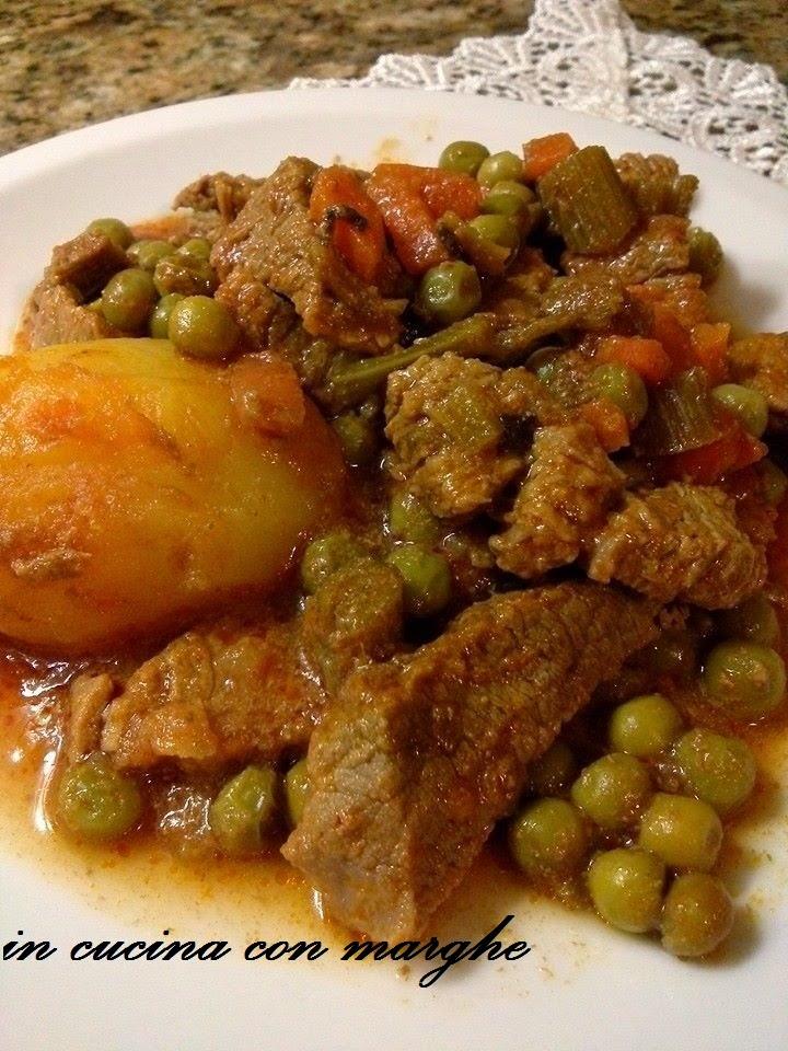 Spezzatino con patate e pisella