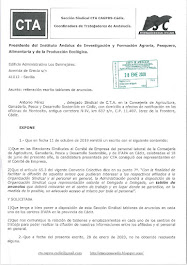 Reiteramos al Presidente de IFAPA la solicitud para que pongan a disposición de esta Sección Sindic