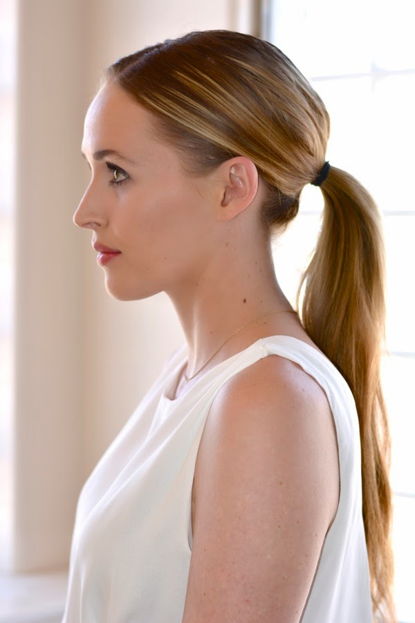 Hair Tutorial- IOS Straightener-Chic Ponytail-Golden Divine Blog-Los Angeles Based Fashion & Beauty Blog
