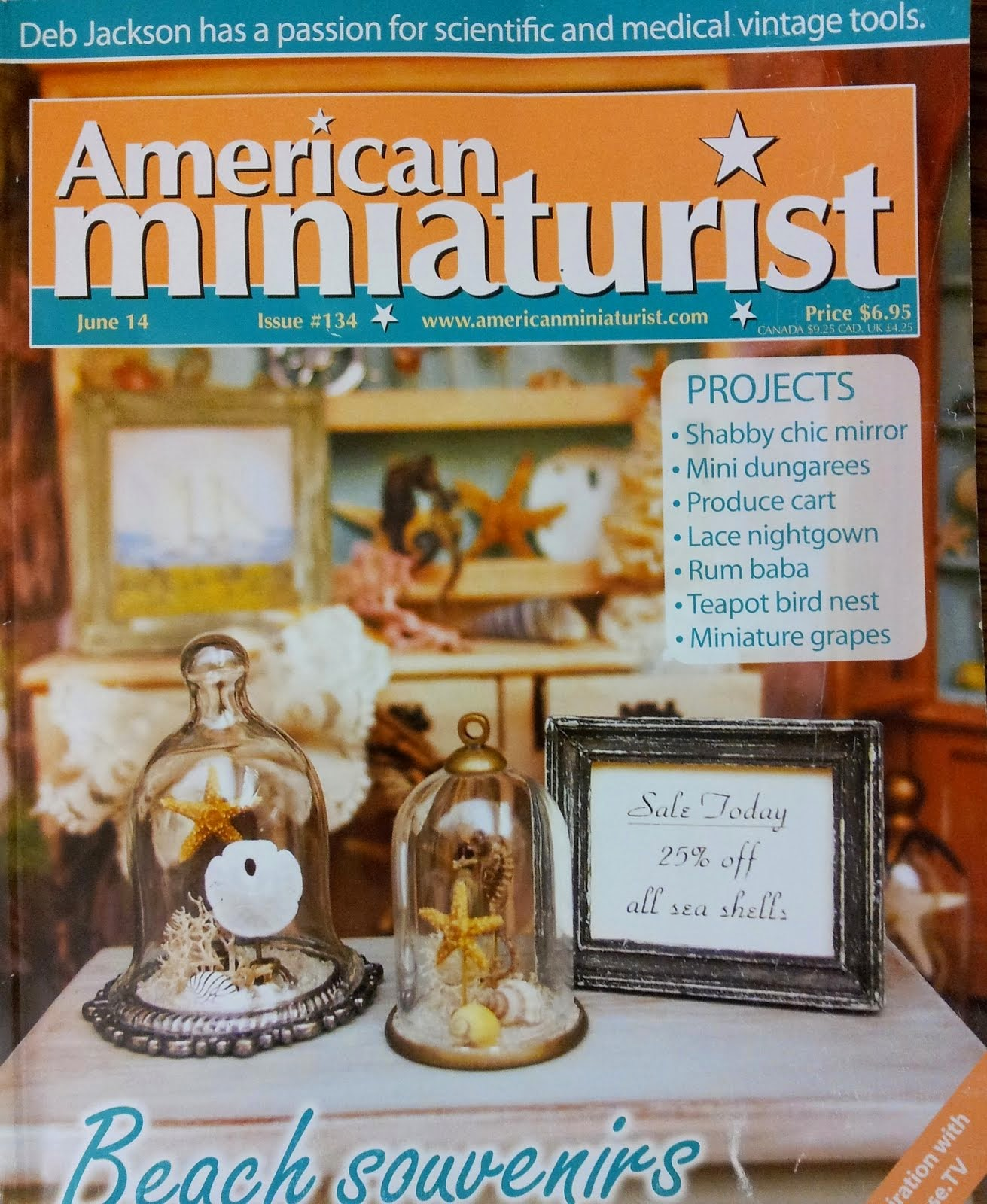 June 2014 Issue With Some Of My Miniature Dresses