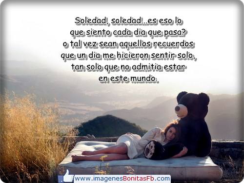 Imagenes con frases de soledad para facebook - Imagenes de Amor ...