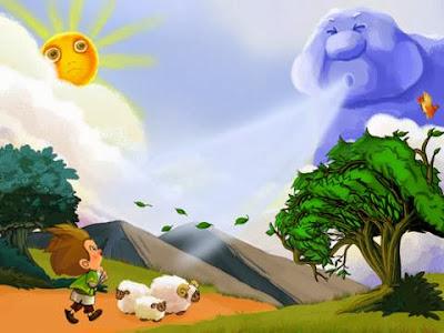 Thần gió và thần mặt trời cải nhau