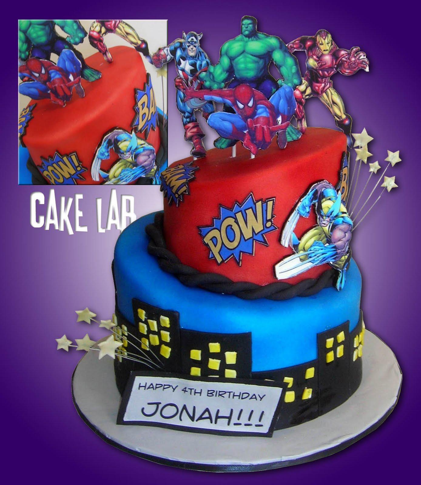 ZacO Cakes: Marvel Comics Birthday Cake