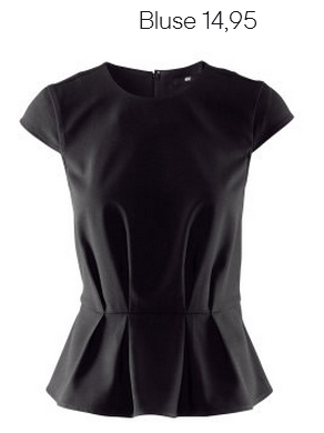 Black Peplum Blouse H&M Fall 2012 Collection