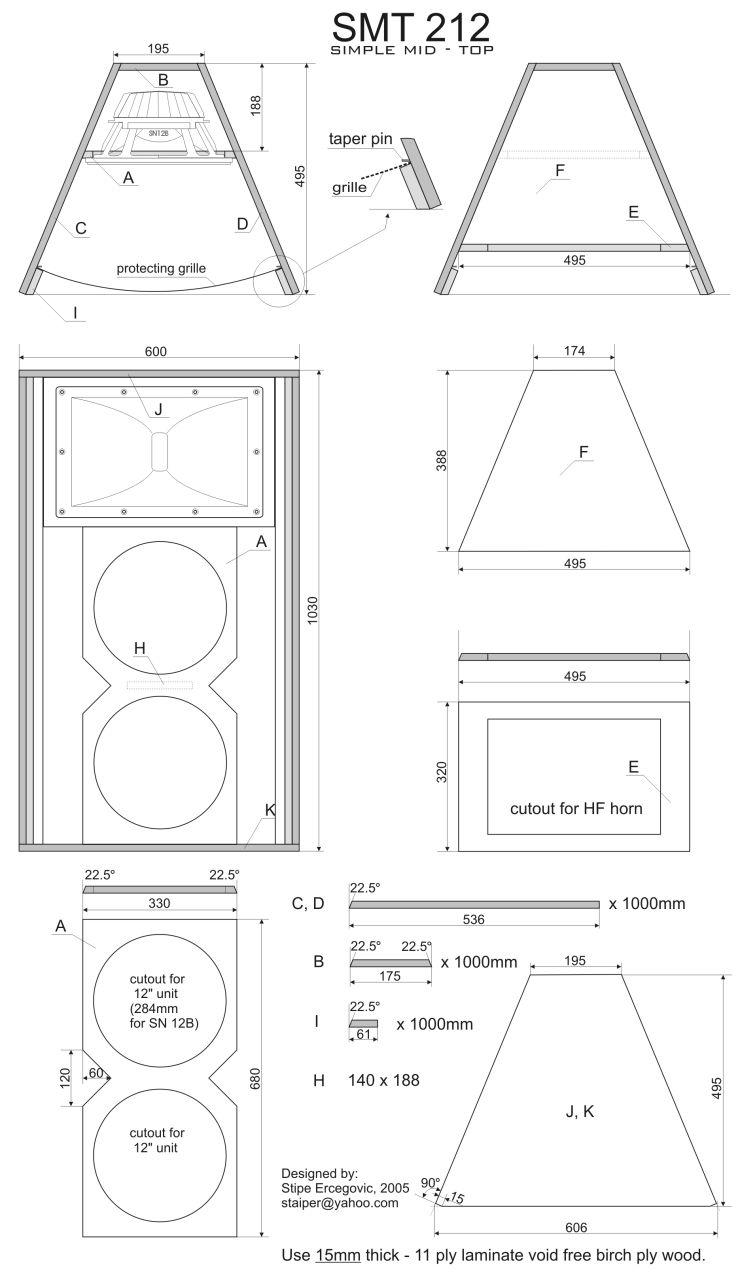 box speaker mid 2x 12 inch outdoor