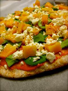 pumpkin and feta pizza
