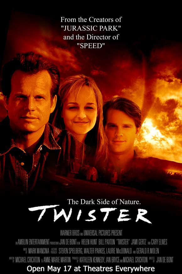 a summary of the movie twister Ask a meteorologist about the 1996 tornado thriller twister, and they'll either   chris capella griped in his review of the movie for usa today.