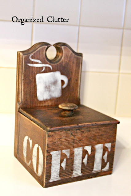 Recipe Box Upcycle with Old Sign Stencils