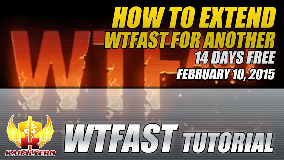WTFast Tutorial, How To Extend WTFast For Another 14 Days Free, February 10, 2015