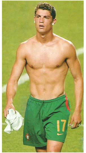cristiano ronaldo. Cristiano Ronaldo is rubbing