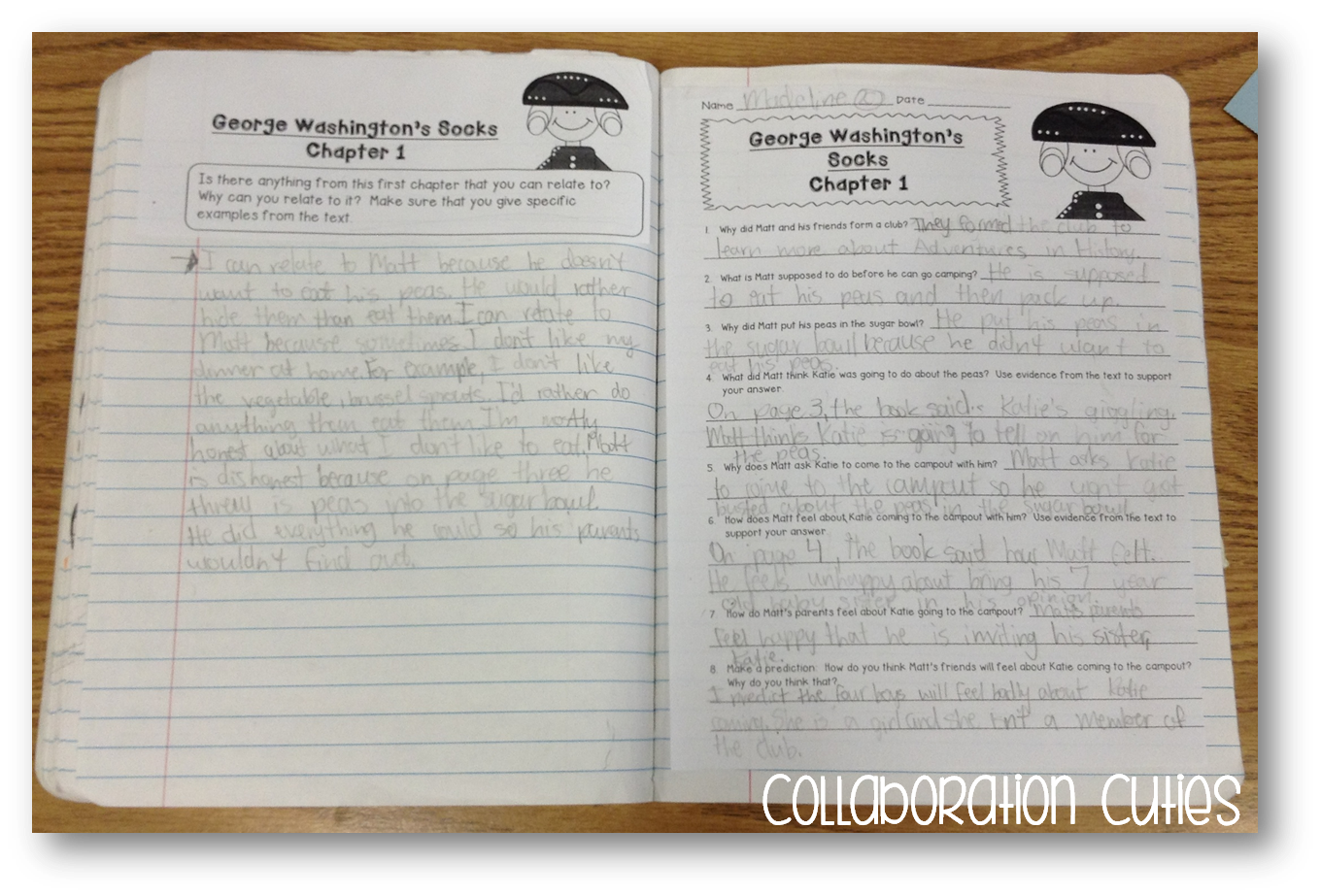 Collaboration Cuties George Washingtons Socks Must Read Mentor – Foreshadowing Worksheet