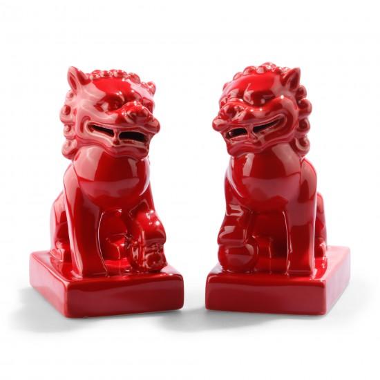Red Foo Dogs C Wonder