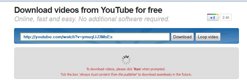 save youtube videos without installing software
