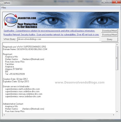 Wois - DesenvolvendoBlogs.com