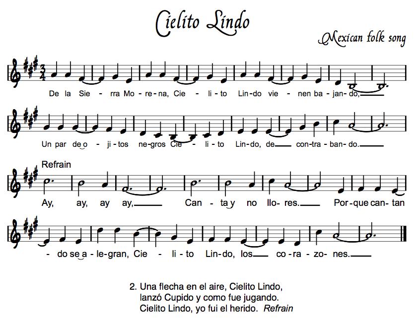LETRA CIELITO LINDO - Ana Gabriel | Musica.com