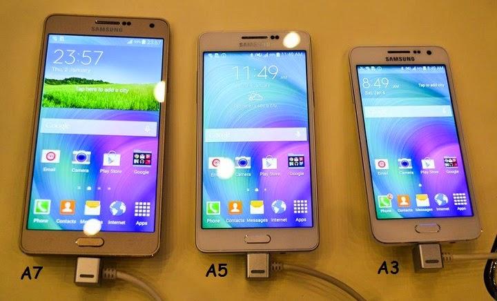 Perbedaan Galaxy A3, A5 dan A7 - TechnoGrezz