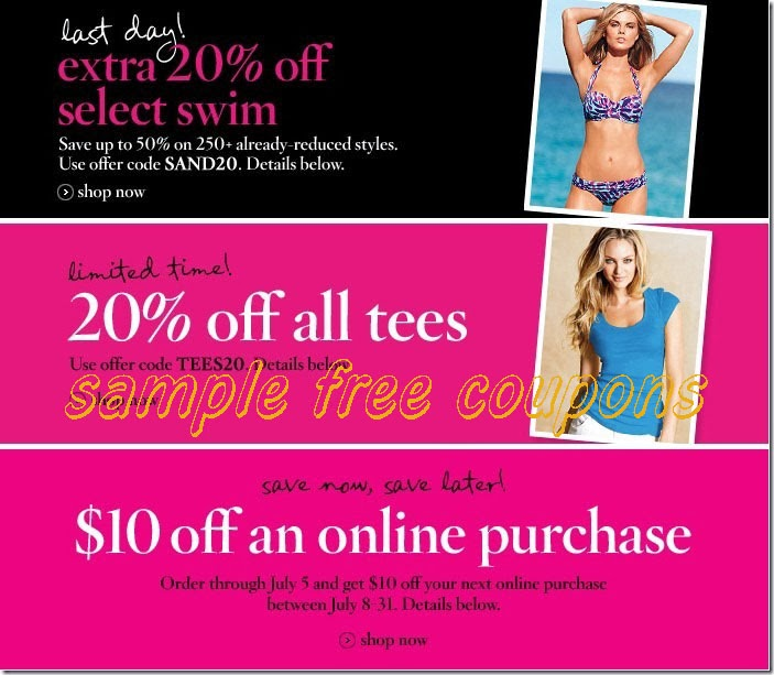 Like Victoria's Secret coupons? Try these...