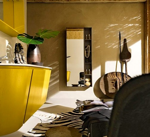 Decorar Baño Amarillo:DECORAR, DISEÑAR Y EMBELLECER TU HOGAR: Baño Moderno en Color