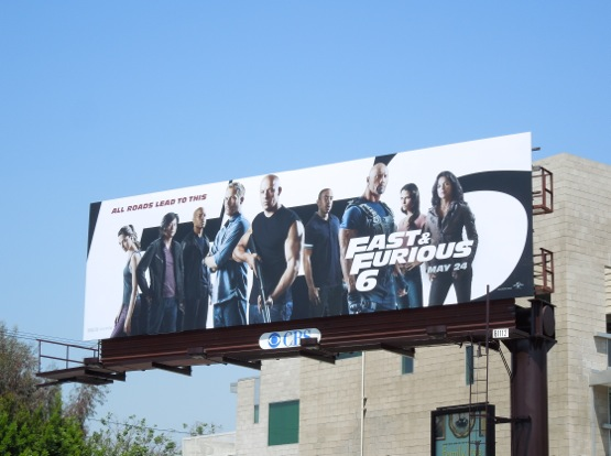 Fast Furious 6 billboard