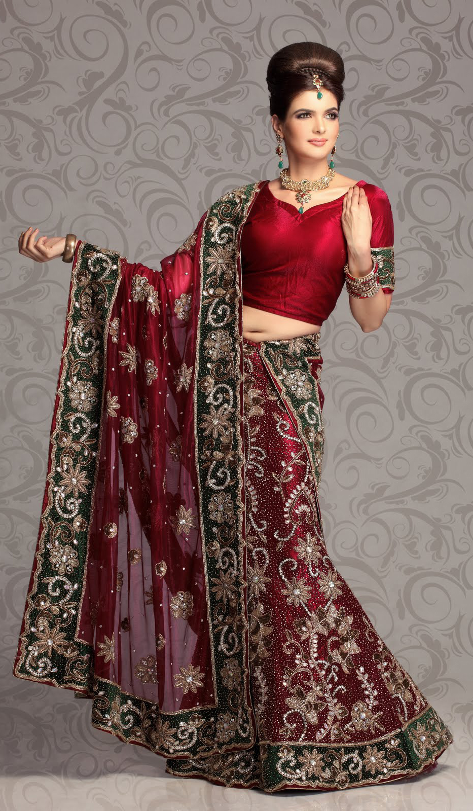 Indian Lehenga Choli For Wedding Wallpaper Photos Pictures Pics Images ...