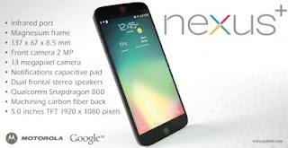 Motorola Nexus+ Konsep Ponsel Masa Depan google ?