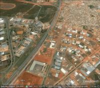 Via Estrutural com Cidade do Automóvel, SIA e Cidade Estrutural - Imagem: Google Earth