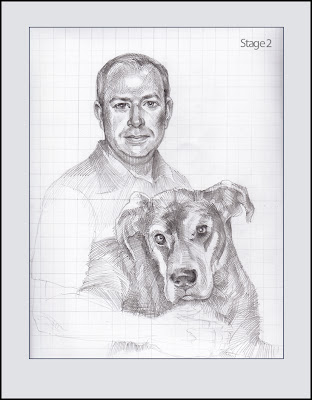 portrait de chien étape 2