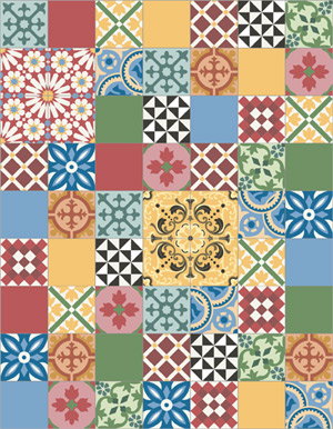 Cement tiles patchwork for Patchwork carreaux de ciment