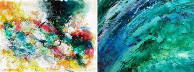 abstrato aquarela e a óleo