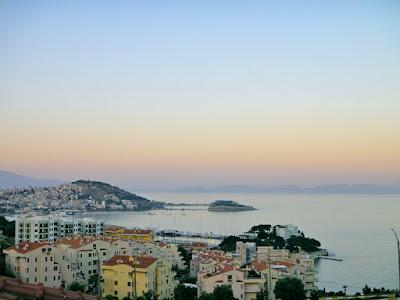 Morning view from Kusadasi Turkey