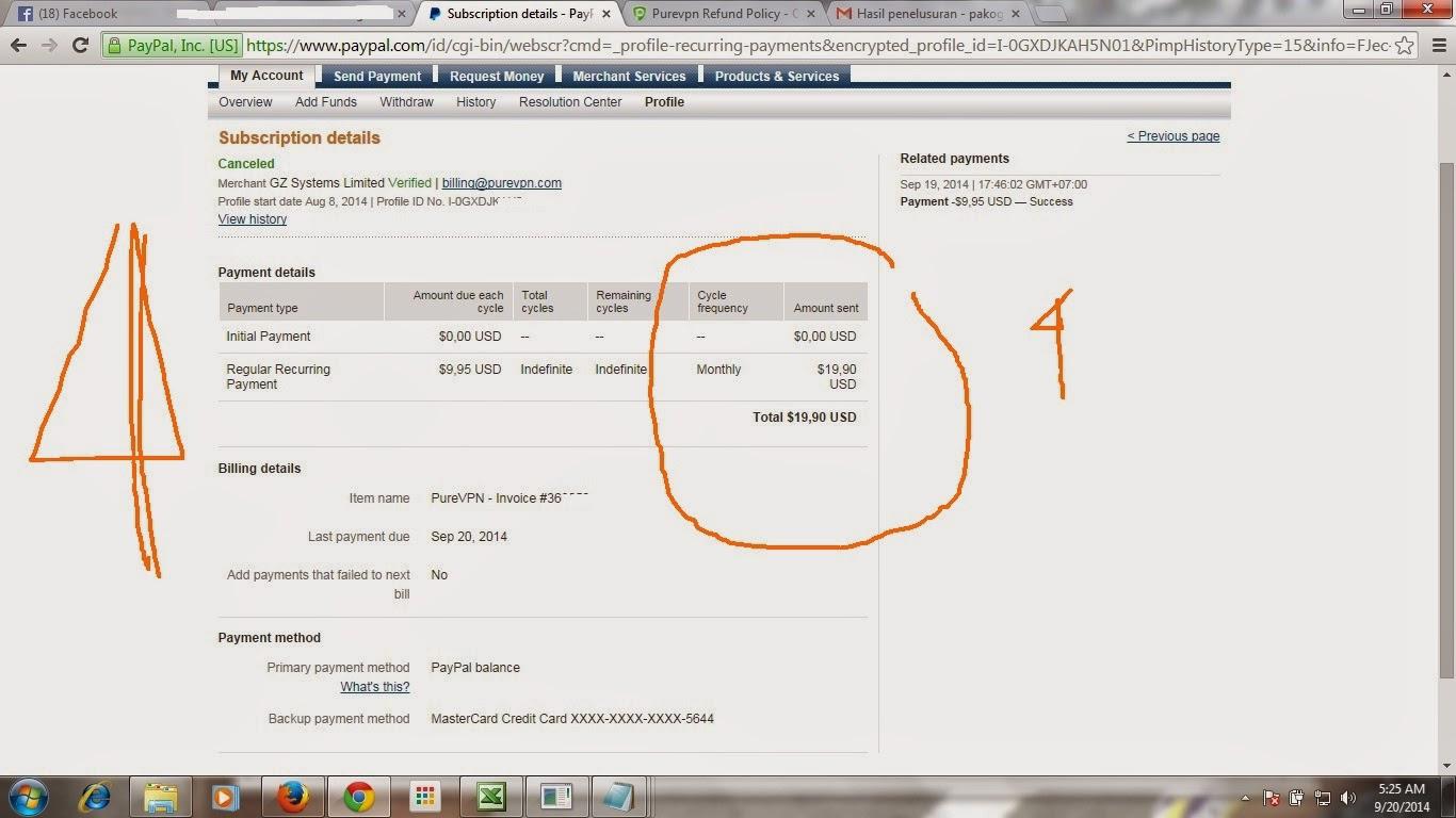 seting automatic payment dari paypal