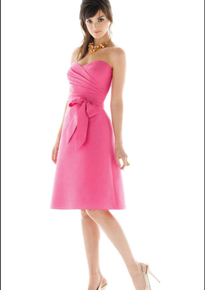 pink junior Birdesmaid dress