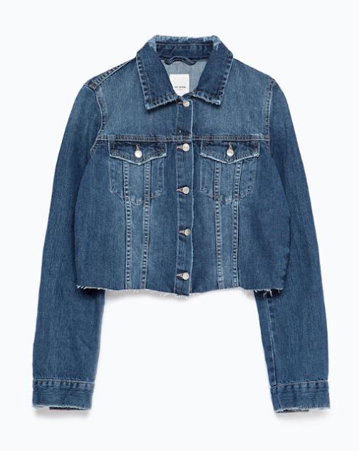 Rebajas SS 2015 fondo de armario chaqueta denim cortada