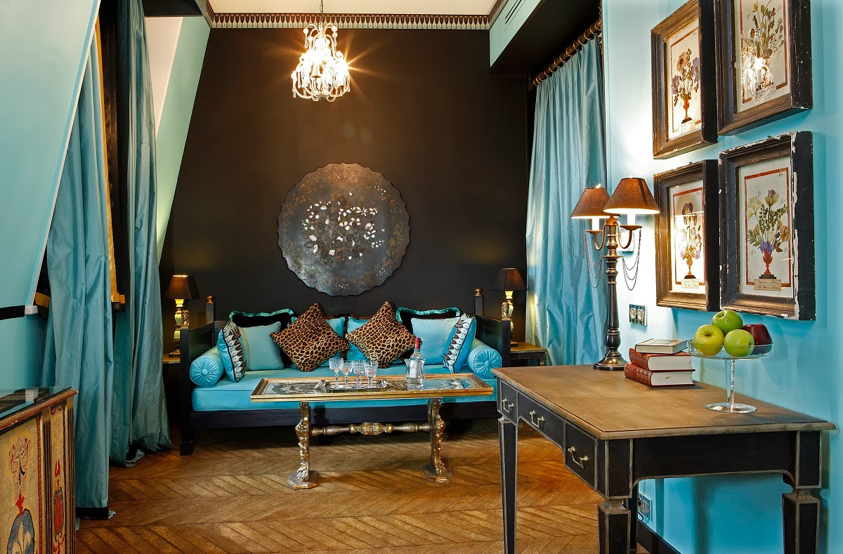 Passion for luxury saint james paris france - Salon marocain turquoise marron ...