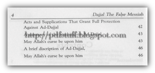 contents of the book Dajjal the false Messiah 2