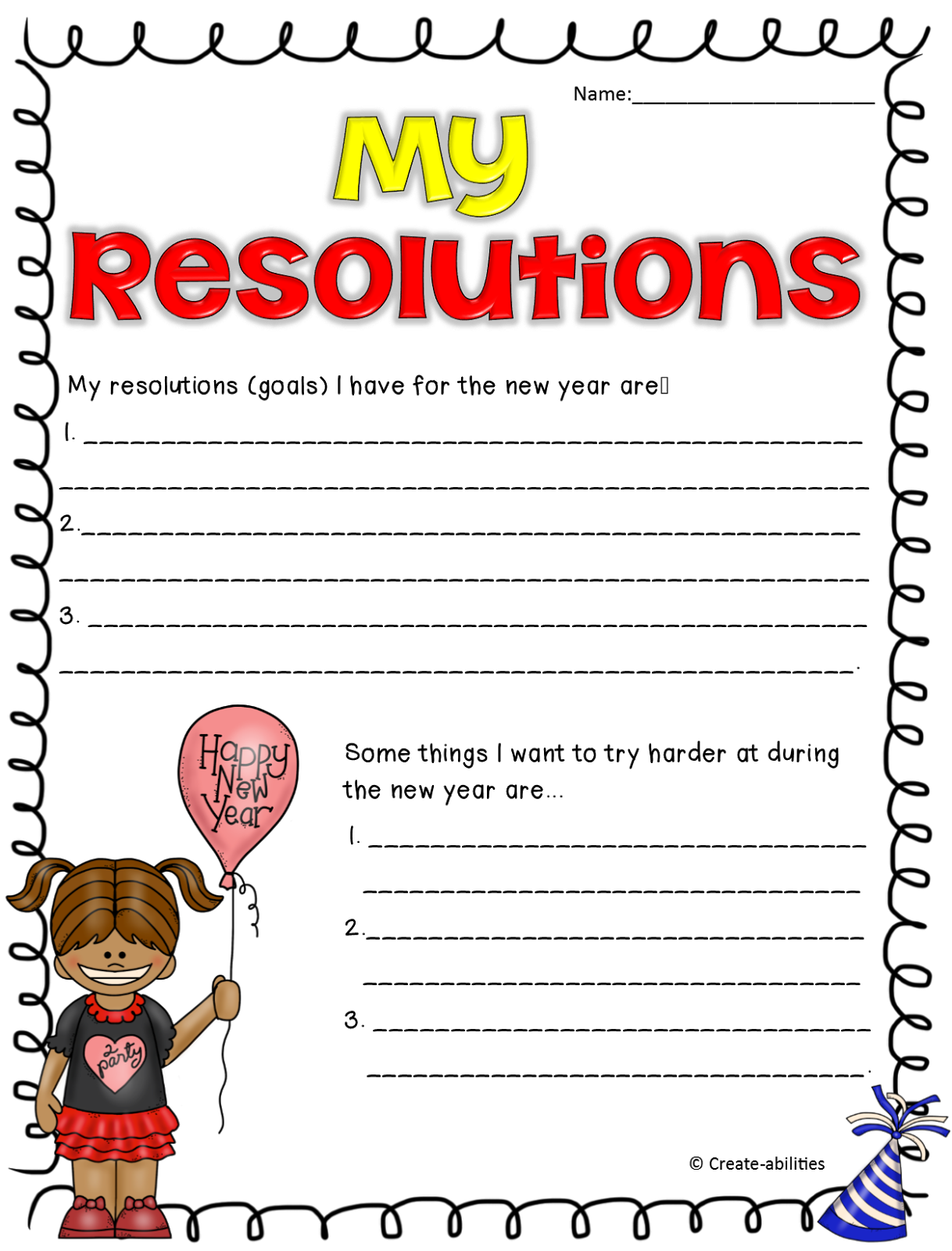 ... resolutions! You can also download the freebie from Google Docs here